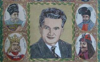 Tablou cu Nicolae Ceauşescu şi alţi conducători ai poporului român - imagine preluată de pe adevarul.ro
