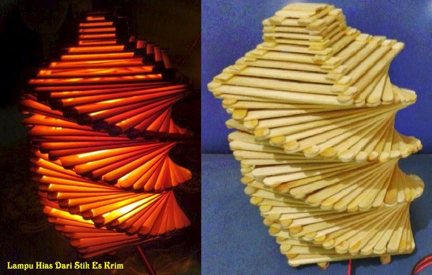 Kreasi Membuat Lampu Tidur Dari Stik Es Krim