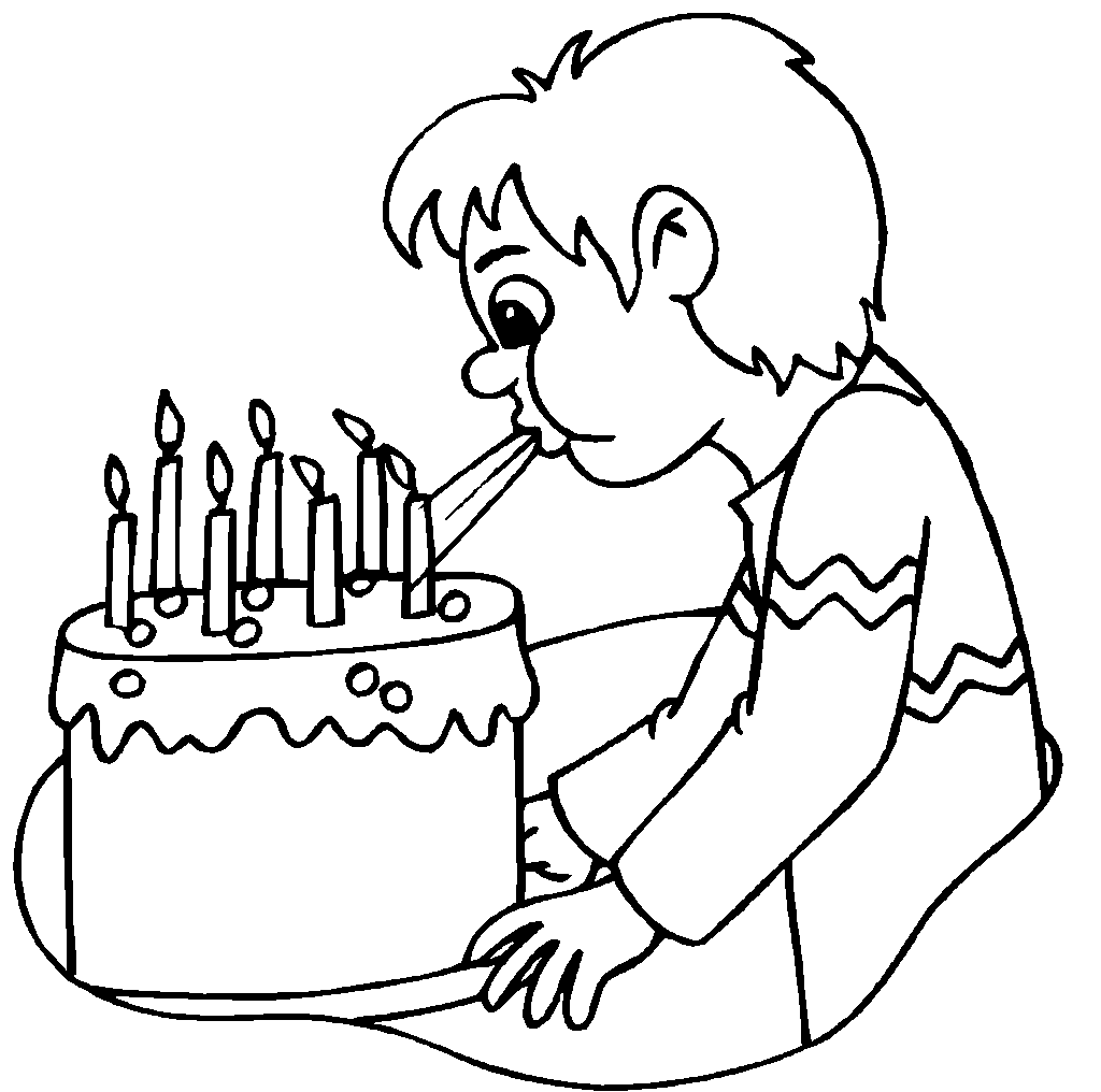 Free coloring pages of birthday candle