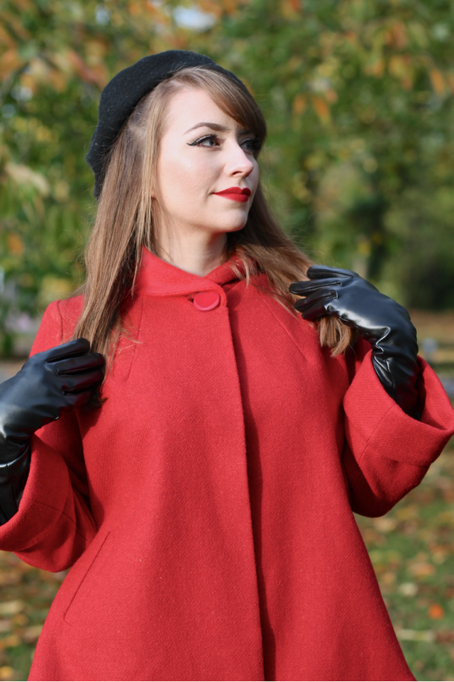 The House of Foxy 50s cute red swing jacket review