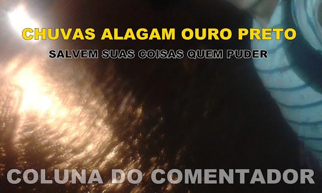 Chuvas em Ouro Preto também alagam
