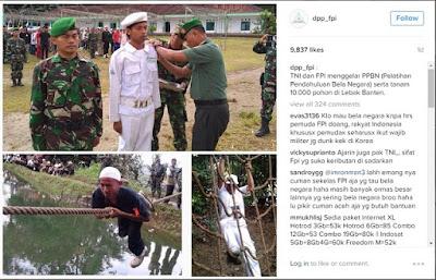 Latihan bela negara FPI dan TNI