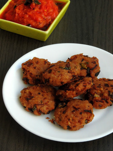 Red Rice Flakes Onion Vada