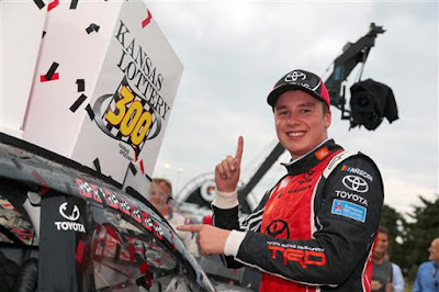 Christopher Bell Wins at Kansas Speedway for his first #NASCAR #NXS Victory.