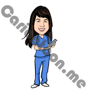 Female Nurse Caricature