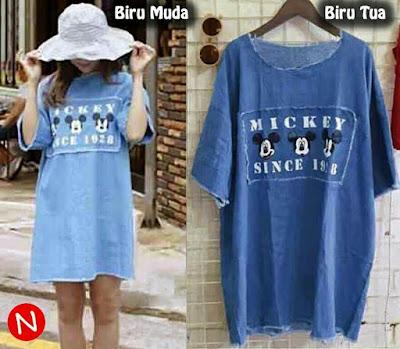 Jual Baju Big Size Mini Dress Mickey Mouse - 12445