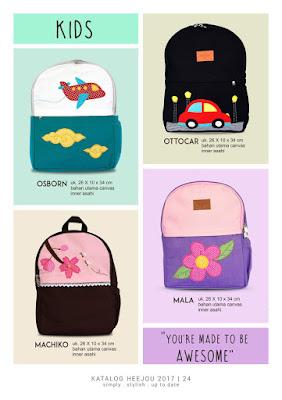 grosir tas anak, tas anak laki-laki, tas anak perempuan, tas heejou 2017