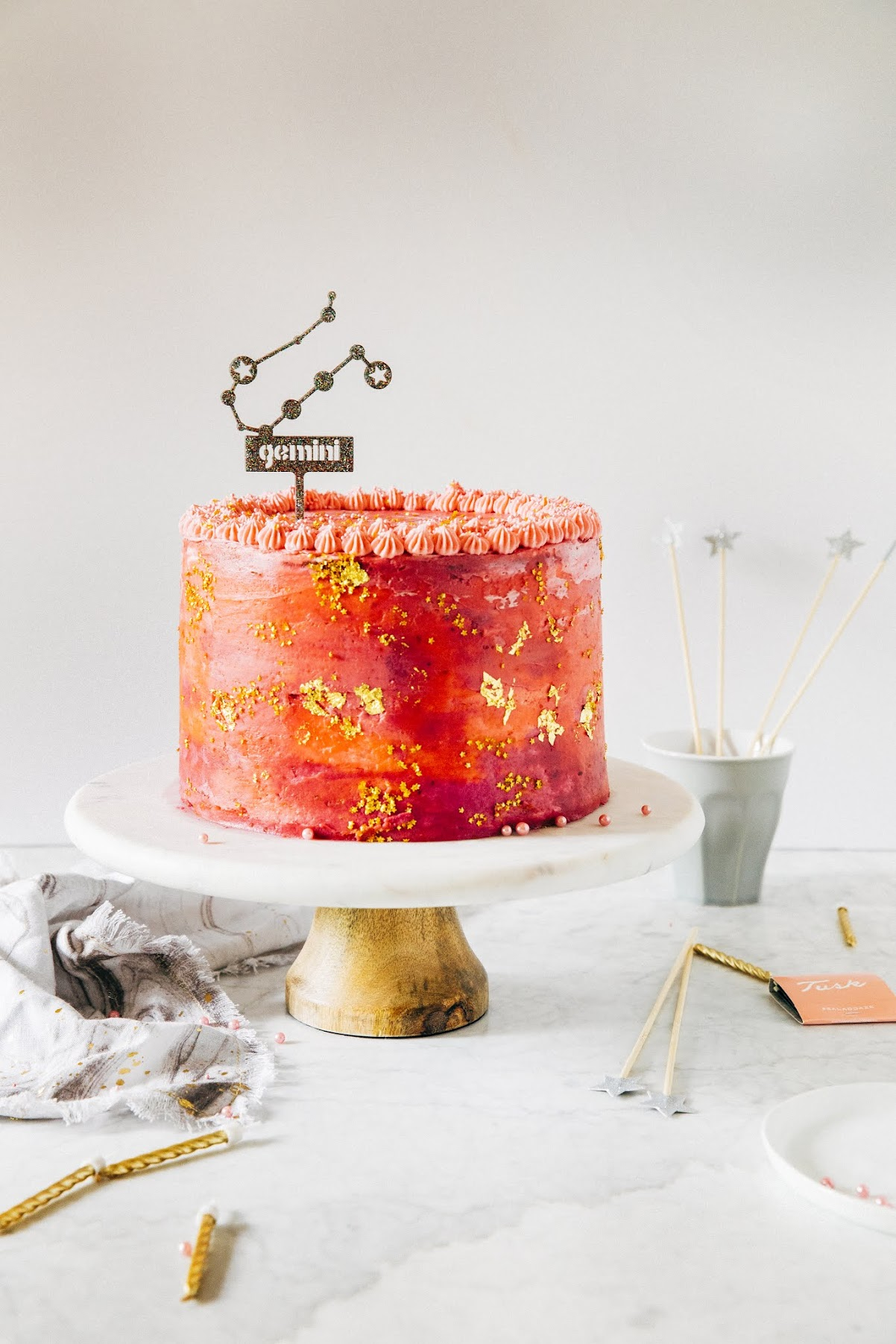 Pink Galaxy Birthday Cake