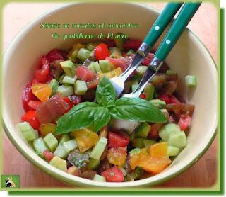 Vie quotidienne de FLaure : Salade de tomates et concombre