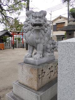 【門真市稗島】堤根神社(つつみねじんじゃ) 狛犬
