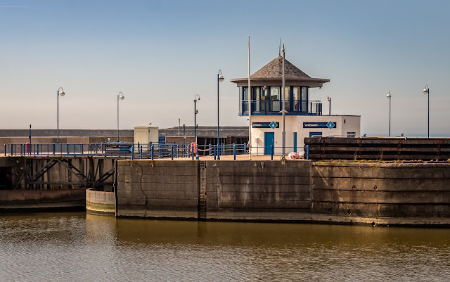 Photo of the sea lock at Whitehaven Marina
