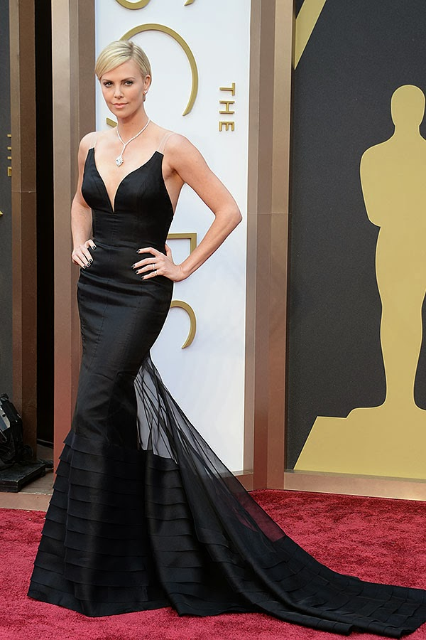 Charlize Theron in Dior at the Academy Awards 2014