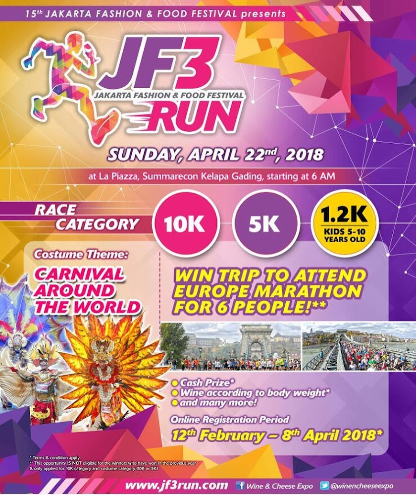 Jakarta Fashion & Food Festival (JF3) Run • 2018