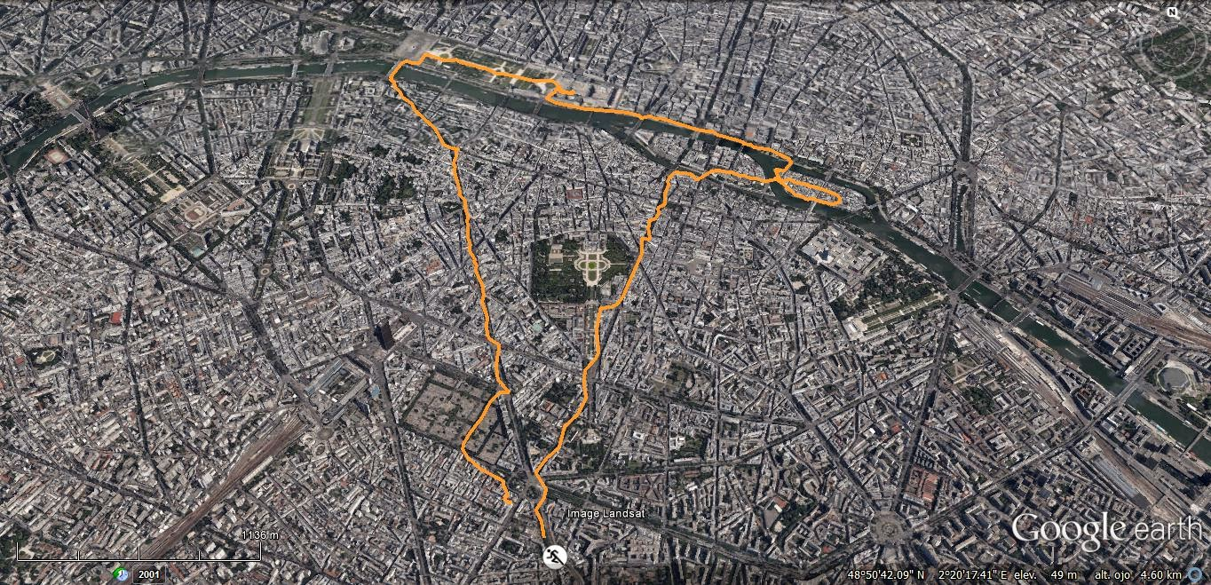 ruta running 2 por paris