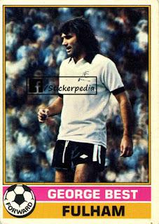 George Best Fulham topps sticker 1977 78