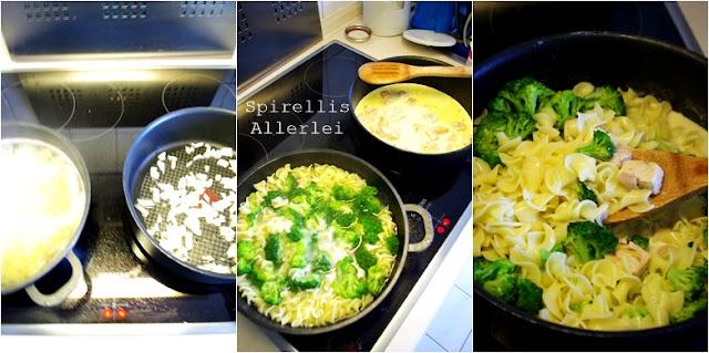 Spirellis Allerlei - Zubereitung Nudeln mit Sahnesoße und Lachs