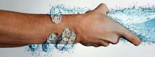 mano, acqua, manipolazione,