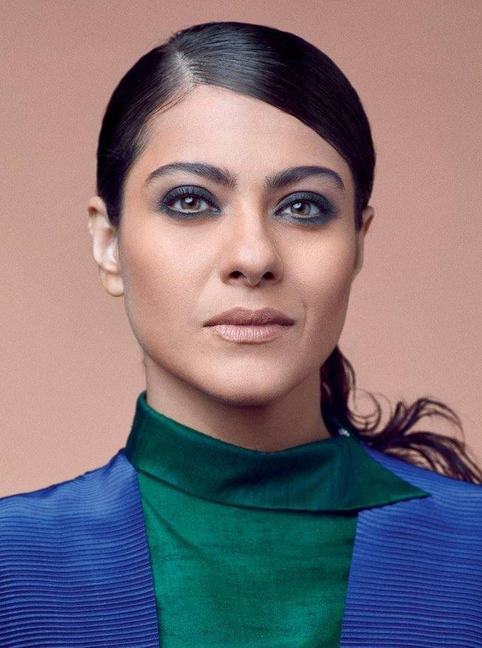 Glamorous Mumbai Actress Kajol Photo Shoot In Blue Dress