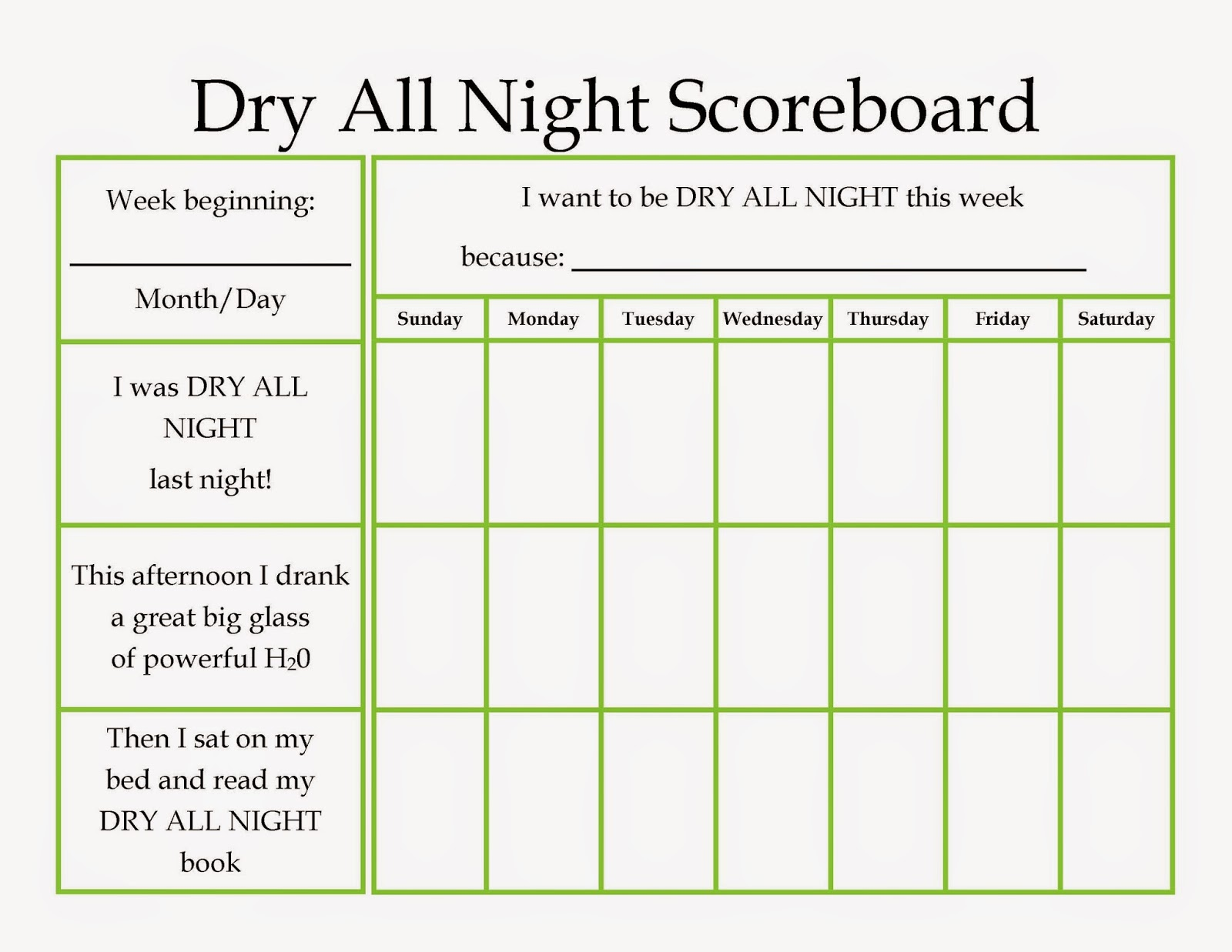 Designing Life Dry All Night Printable