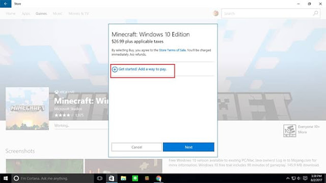Cara Membeli Game Minecraft PC Windows 10 Edition