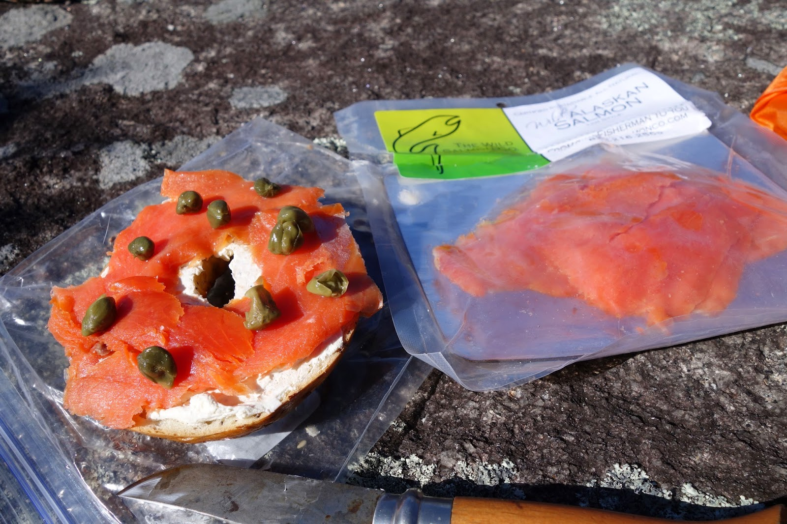 Bagle with salmon