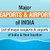 List of Major Seaports and Airports of India in PDF Download