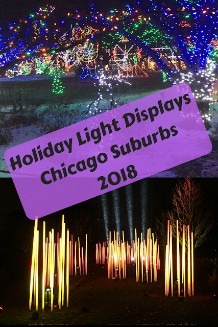 Chicago Suburban Holiday Light Displays for 2018 including awesome home displays.