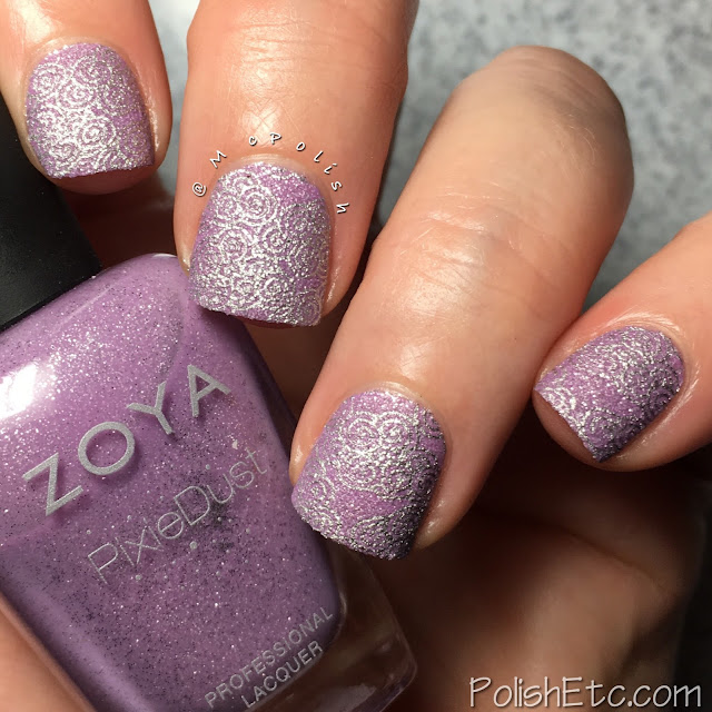 Violet Nails for the #31DC2018Weekly - McPolish - Zoya Stevie stamping