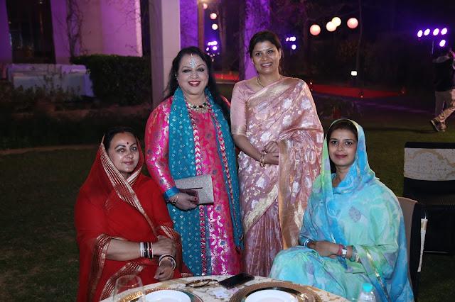 (L-R) HH Maharani Rohini Kumari of Karauli, Rama Pandey, Sanjana Mohan and Yuvrani Priyadarshini Kanwarji Sahiba-min