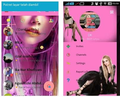 BBM Avril Lavigne Based 3.0.1.25 Apk