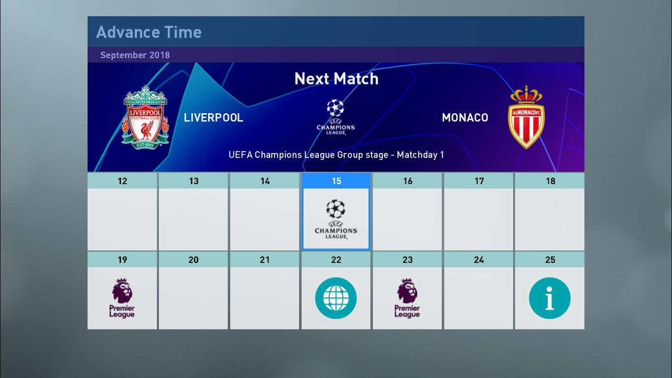 PES 2019 ML Graphics [ Champions League, Europa League