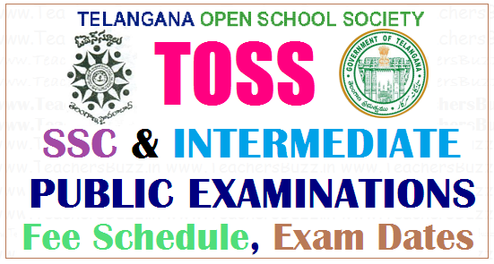 toss inter ssc exams fee schedule,dates for october 2018 public examinations,toss exams fee schedule,dates,toss ssc inter public exams, telanganaopenschool.org