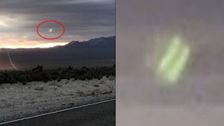 Photographer Captures Bright Green Object Over Area 51