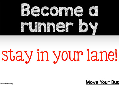 Staying in your lane is a great way to become more like a runner! Then you will be more worried about what you are doing, and have time to shine bright!!