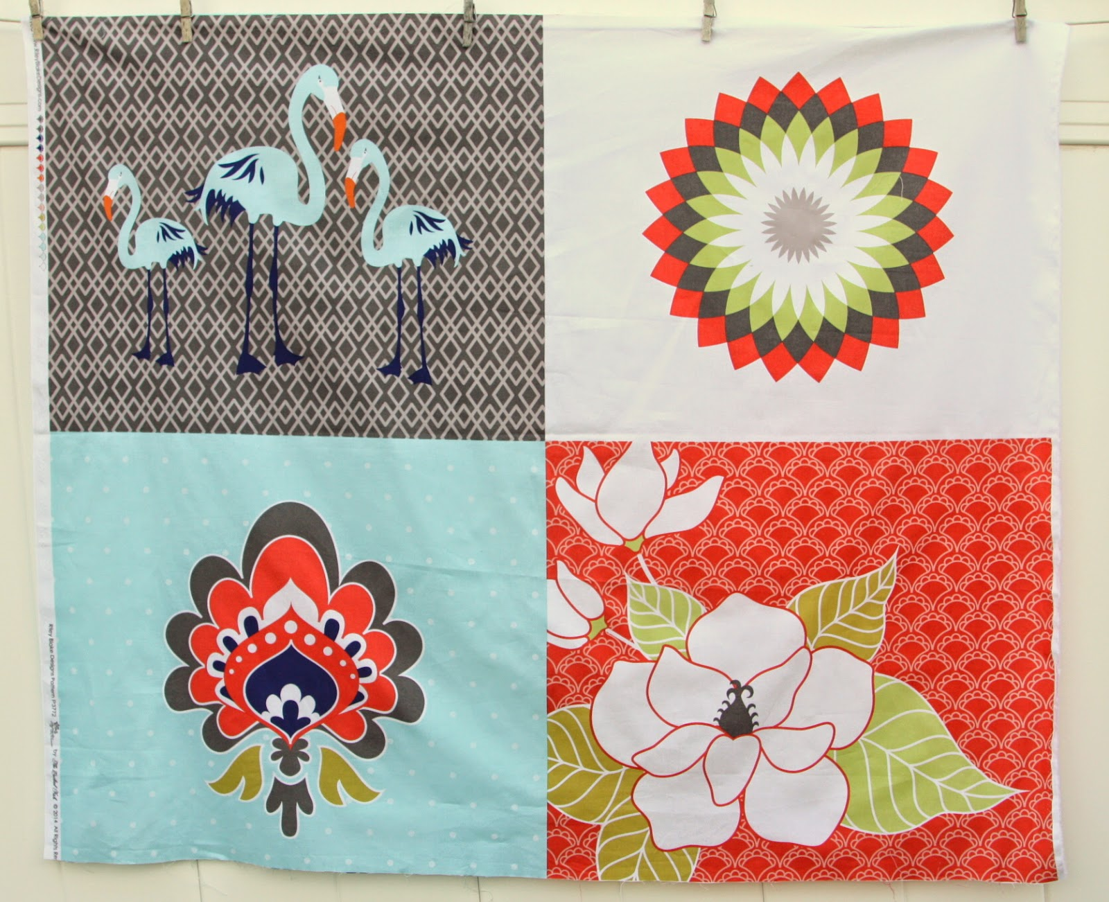 16 patch scrappy quilt tutorial diary of a quilter a quilt blog this quilt uses the gorgeous big panel blocks from the lula magnolia collection but could be used with any 16 x 16 fabric panels baditri Image collections
