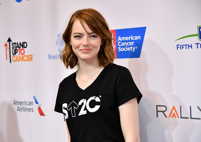 HQ Photo of 'La La Land' actress Emma Stone At 5th Biennial Stand Up To Cancer In Los Angeles
