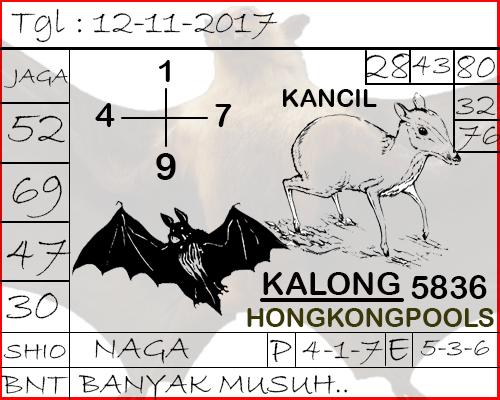 Syair Hongkong Naga Mas Minggu 12-11-2017