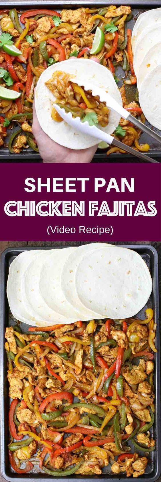 SHEET PAN BAKED CHICKEN FAJITAS