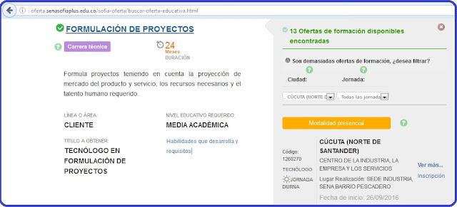 SENA-Cúcuta ofrece formación presencial en 'Tecnología de Formulación de Proyectos' #RSY #VSY #OngCF