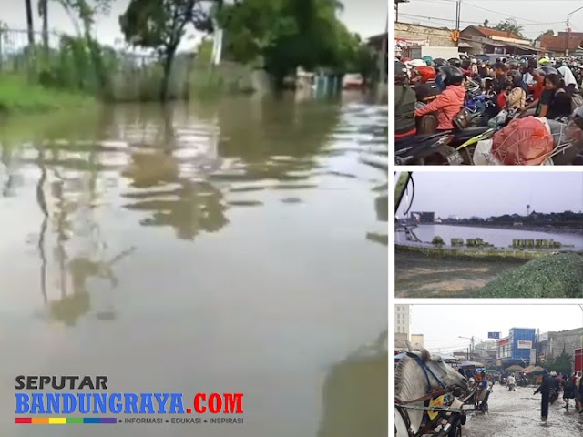 Macet dan Banjir di Bandung Selatan Sambut Awal Musim Hujan