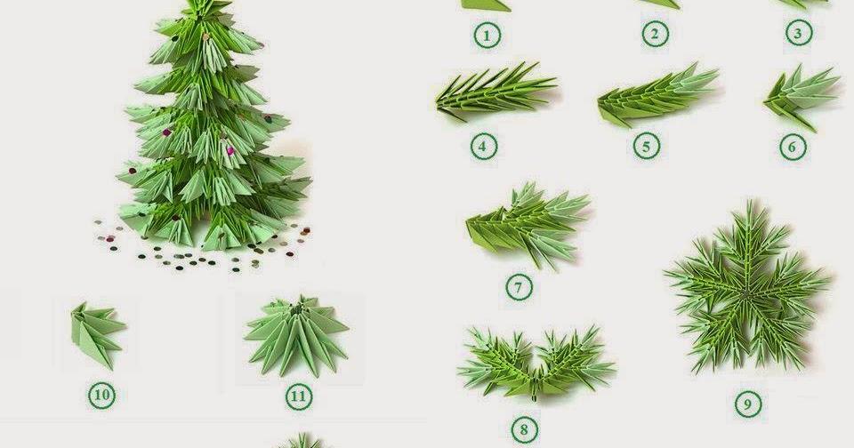 VW_1942] Christmas Tree Origami Folding Diagram And Instruction ... | 504x960