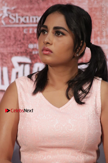 Actress Srushti Dange Stills in Short Dress at Mupparimanam Press Meet  0002.jpg