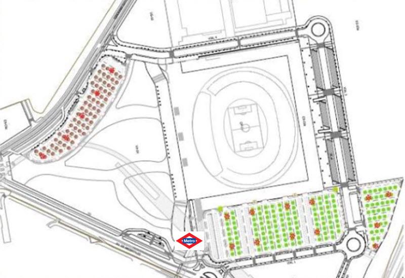 Aparcamiento disuasorio estadio wanda metropolitano sur for Puertas wanda metropolitano