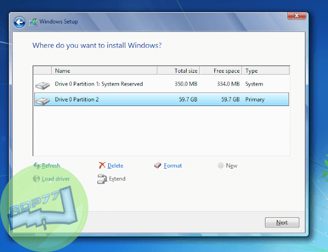 Cara Menginstall Windows 7