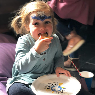 Lottie enjoying Cookie Monster's Cookies!