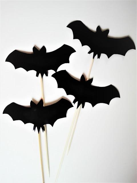 halloween diy, ozdoby halloween, nietoperze