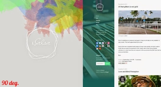 Salsa Blogger Template