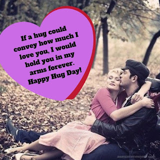 Good Hug Day Quotes with Images to send your lover