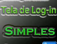 AIDE - Tela de log-in simples