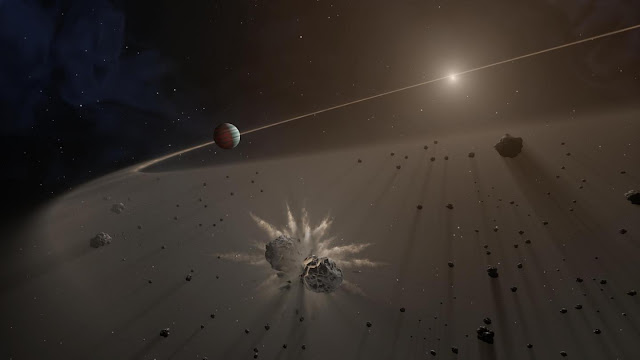 Detailed look at white dwarf orbited by planetary fragments